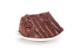 Schokoladenkuchenscheibe Stockbilder