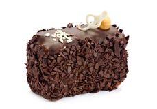 Schokoladenkuchenscheibe Stockfotografie