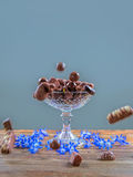 Schokoladenkuchenstand Stockfoto