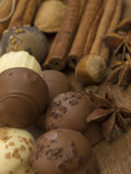 Schokoladenkugeln Lizenzfreies Stockbild