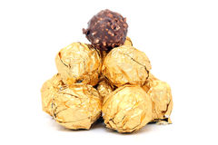 Schokoladenkugeln Stockfotografie