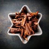 Schokoladenlocken lizenzfreie stockfotos