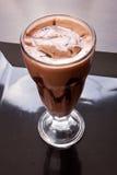 Schokoladenmilchshake stockfoto