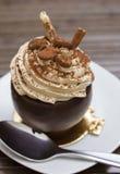 Schokoladenmokkanachtisch Stockbild