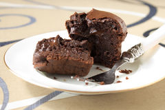 Schokoladenmuffins Stockbild