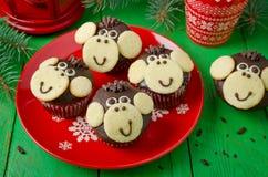 Schokoladenmuffins Affe Stockbilder