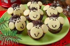 Schokoladenmuffins Affe Lizenzfreie Stockfotografie