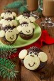 Schokoladenmuffins Affe Stockfotos