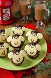 Schokoladenmuffins Affe Lizenzfreies Stockbild