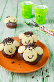 Schokoladenmuffins Affe Lizenzfreies Stockfoto