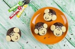 Schokoladenmuffins Affe Stockfotografie
