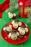 Schokoladenmuffins Affe Lizenzfreie Stockfotos