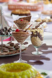 Schokoladennachtisch Stockbild