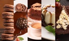 Schokoladennachtische Stockfotos