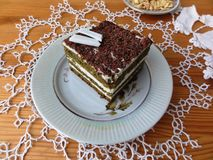 Schokoladennessel-Cremekuchen Stockbild