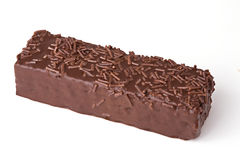 Schokoladenoblaten getrennt auf weißem Hintergrund Lizenzfreie Stockfotos