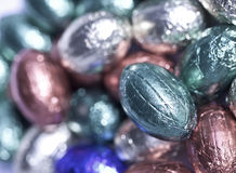 SchokoladenOstereier Stockfotos