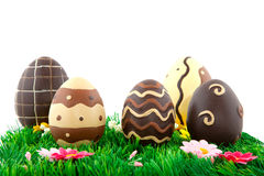 SchokoladenOstereier lizenzfreies stockfoto