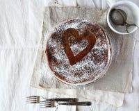 Schokoladenpfannkuchen lizenzfreie stockfotos