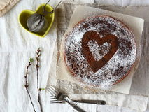 Schokoladenpfannkuchen stockfotos