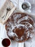 Schokoladenpfannkuchen lizenzfreies stockfoto