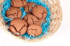 Schokoladenplätzchen mit Karamell Stockfotografie