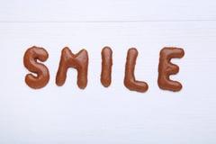 Schokoladenplätzchenalphabet lizenzfreie stockfotos