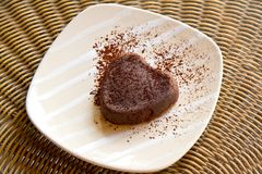 Schokoladenpudding Stockbild