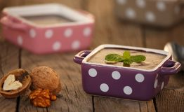 Schokoladenpudding, Retro- angeredet Stockbild
