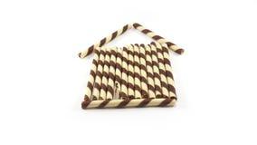 Schokoladenrolle Stockbild