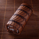 Schokoladenrolle lizenzfreies stockfoto