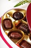 Schokoladensüßigkeit für Valentinsgrußtag stockfoto