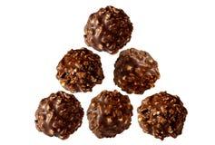 Schokoladensüßigkeit mit Muttern Lizenzfreie Stockfotografie