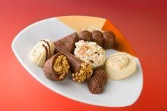 Schokoladensüßigkeiten stockbild