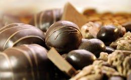 Schokoladensüßigkeiten stockfotografie