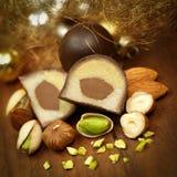 Schokoladensüßigkeiten stockfoto