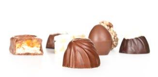 Schokoladensüßigkeiten getrennt Stockfoto