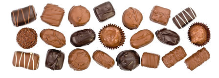 Schokoladensüßigkeitpanorama Stockfotografie