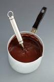 Schokoladensahne. Stockfotos