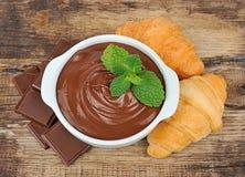 Schokoladensahne Stockbild