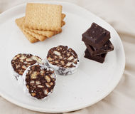 Schokoladensalami Lizenzfreies Stockfoto