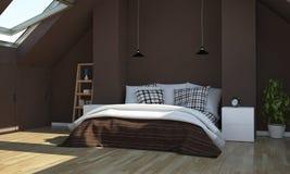 Schokoladenschlafzimmer lizenzfreies stockfoto