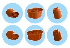 Schokoladenschnitzelikone Stockfotos