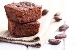 Schokoladenschokoladenkuchennachtisch Stockfotos