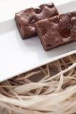 Schokoladenschokoladenkuchennachtisch Stockfotografie