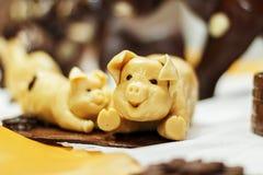 Schokoladenschweindekor Stockbilder
