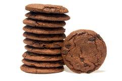 Schokoladensplitterkekse oder -plätzchen Stockfoto