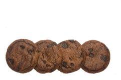 Schokoladensplitterkekse oder -plätzchen Stockbild