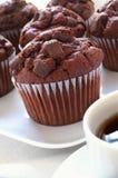Schokoladensplittermuffins Lizenzfreie Stockfotos