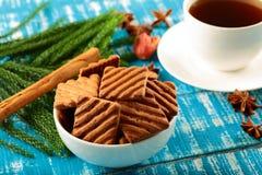 Schokoladensplitterplätzchen mit Kaffee Stockfoto